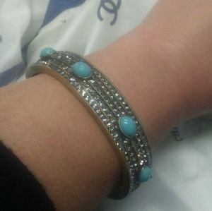 MINT Heidi Daus Crystal Turquoise Bangle